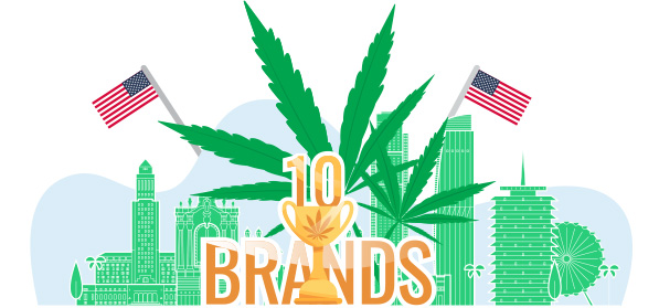 Top 10 Cannabis Brands in the USA in 2021